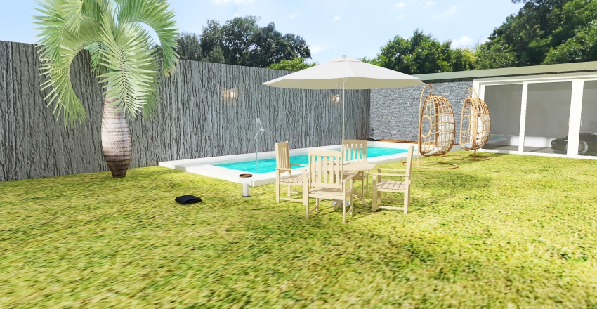 Copy of Proyecto dos plantas y quincho Interior Design Render