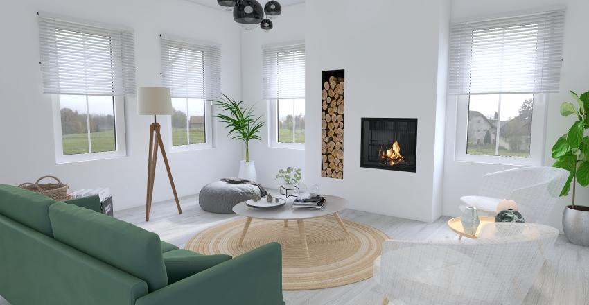 minimalistic scandinavian Interior Design Render
