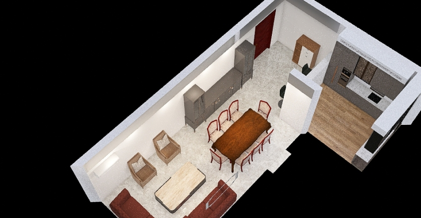 Hall of mohamed abo zied Interior Design Render