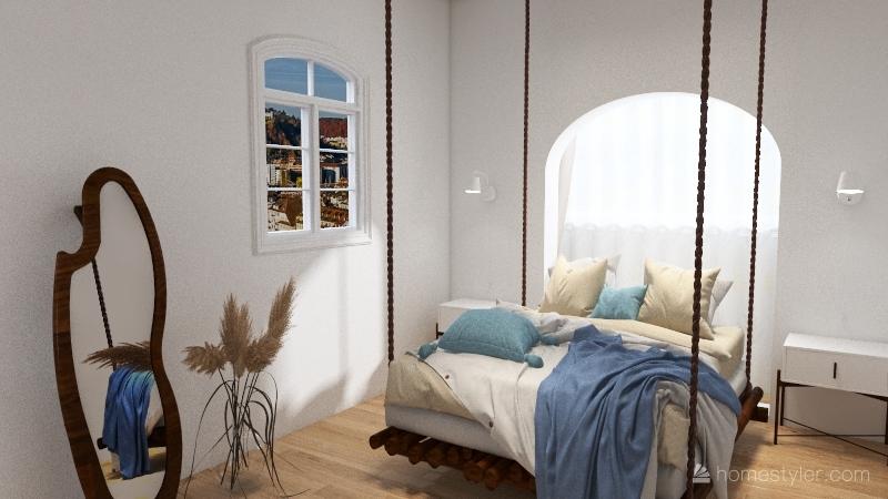 greek house Interior Design Render