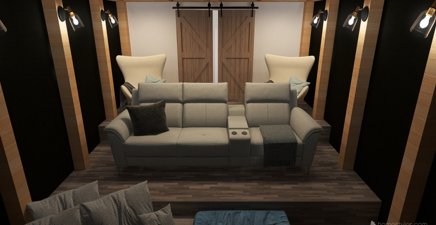 Ashley's Home Theatre Interior Design Render
