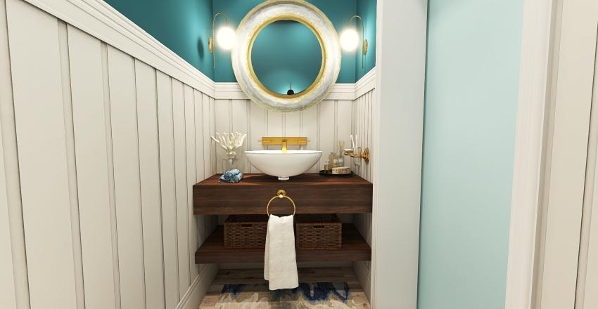 Miami Boho Beach Cottage Interior Design Render