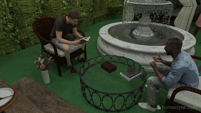 good garden Interior Design Render