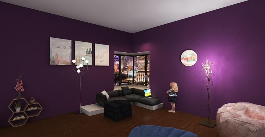 House ran by children Interior Design Render