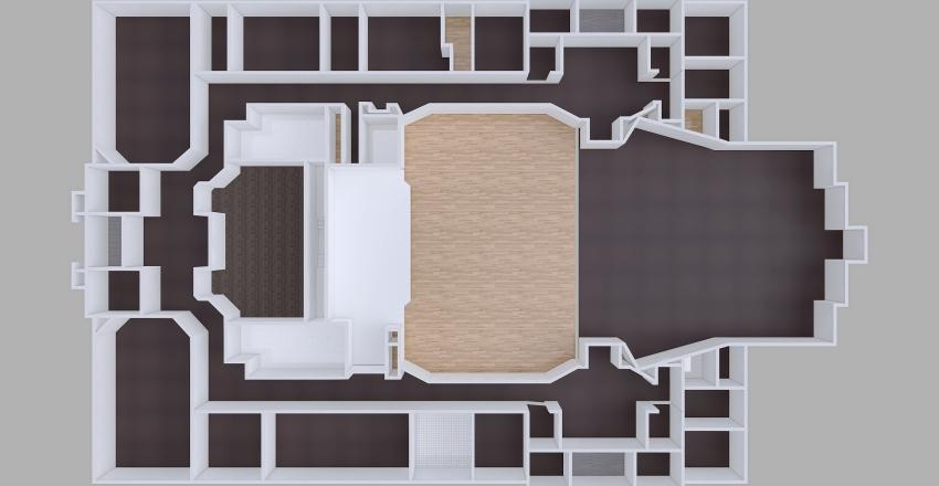 Church Interior Design Render