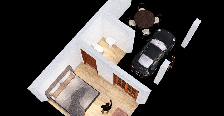 garagem de sustentação Interior Design Render
