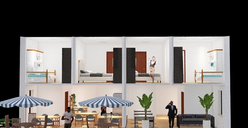 Sobrado com Lojas Interior Design Render