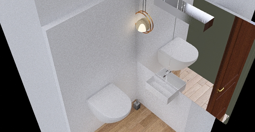 Mala toaleta Interior Design Render