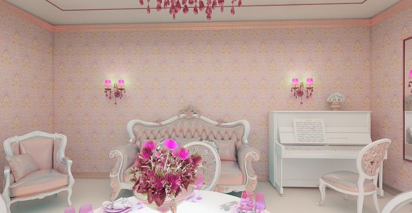 классика розовая Interior Design Render
