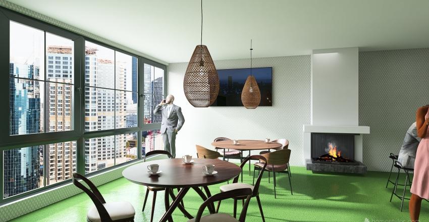 кофейня Starbucks Interior Design Render