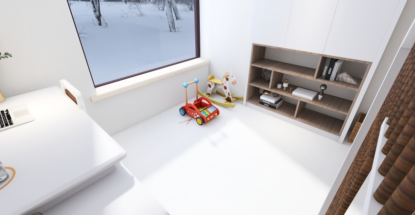 Detská izba.  Interior Design Render