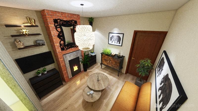 Rashida front room Interior Design Render