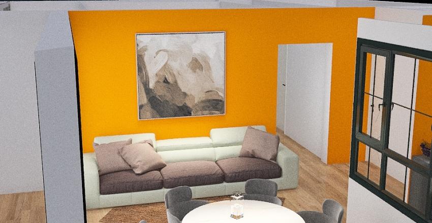 appartement 5chambres avec balcon Interior Design Render