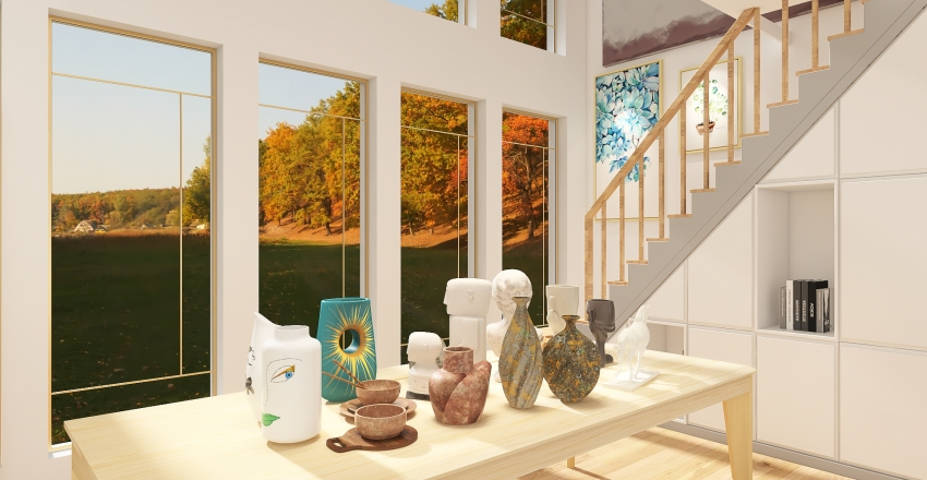 art studio Interior Design Render