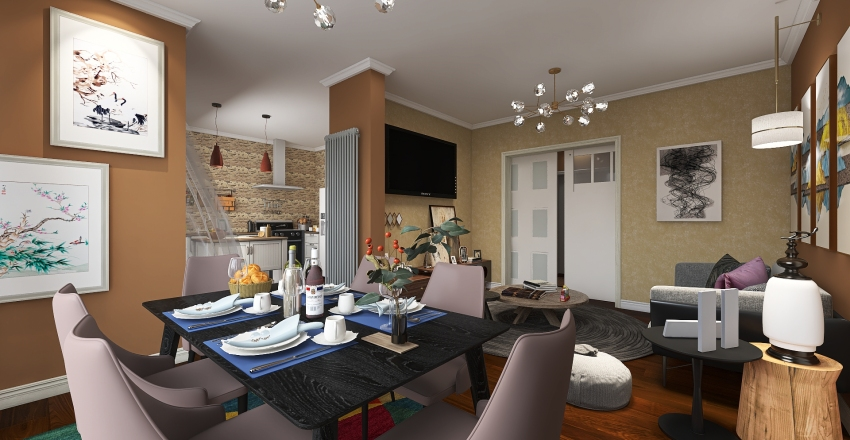 LoveStay Interior Design Render