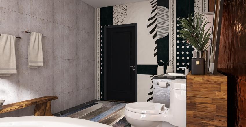 Rustic industrial Interior Design Render