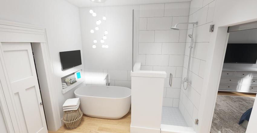 Contemporary Lake House Interior Design Render