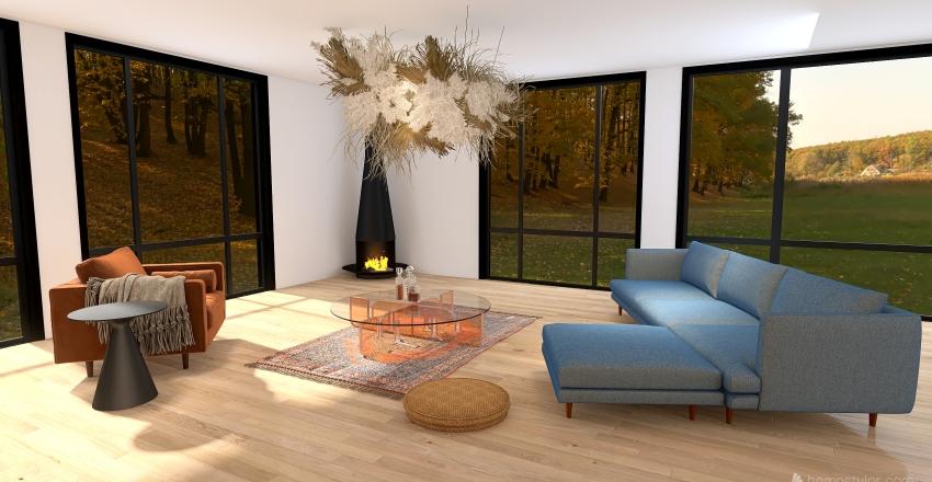 Bohemian/ Mediterranean Home Interior Design Render