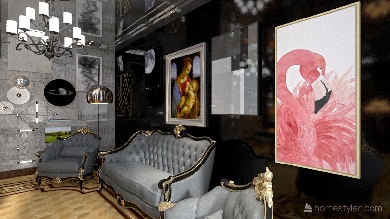 классика паркет серый Interior Design Render