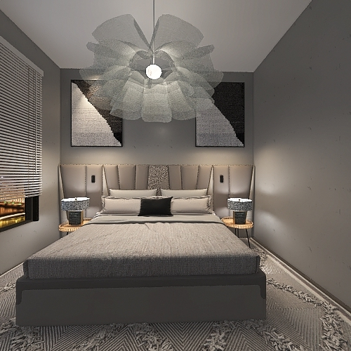 modern gray life Interior Design Render