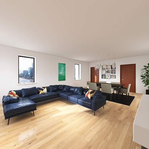 Piso completo 1 Interior Design Render