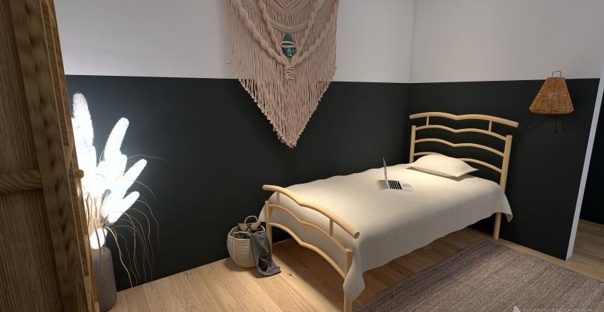 Modern Winter Cottage Interior Design Render