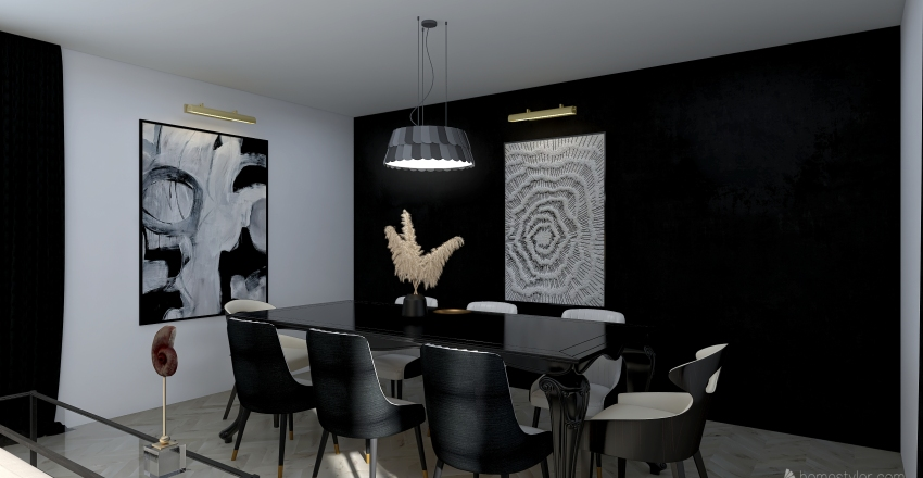 Sala de Estar Interior Design Render