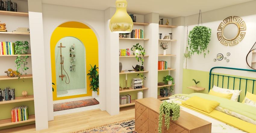 terraced london house Interior Design Render