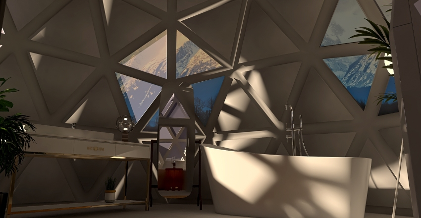 Moon House Airbnb Interior Design Render