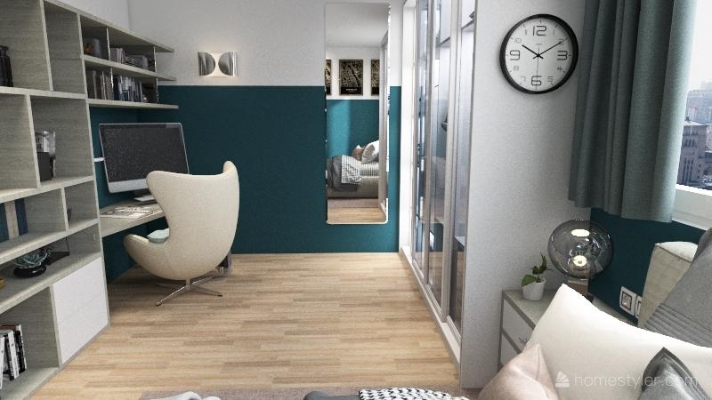 lake house Interior Design Render