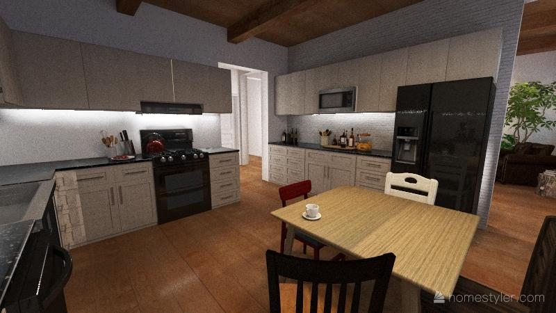 Single Floor Apartment 1908 Building Interior Design Render