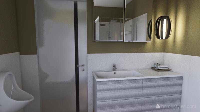 dom łazienka z 2 półkami Interior Design Render