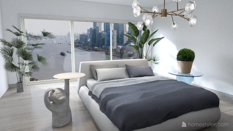 Yasser's Bedroom Interior Design Render