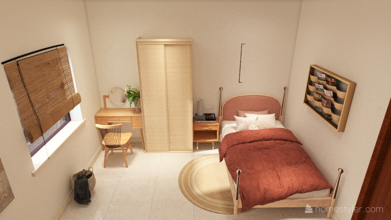 Service Studio Apartment Interior Design Render