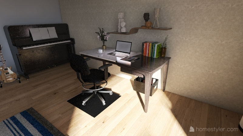 ⭒☆━SEMI-MODERN URBAN APARTMENT━☆⭒ Interior Design Render