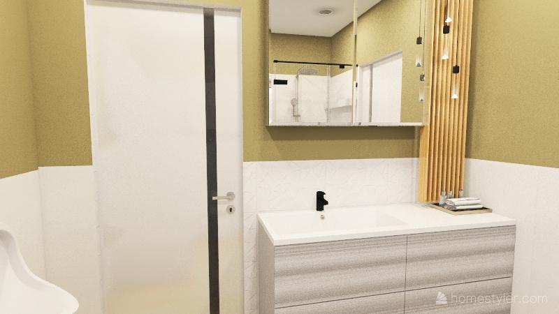 Copy of dom łazienka z półkami schodki Interior Design Render