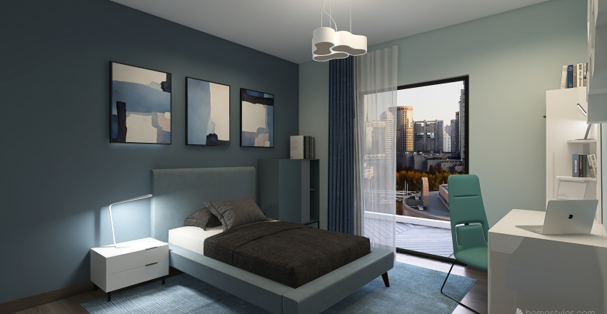 Downtown Apartment Interior Design Render