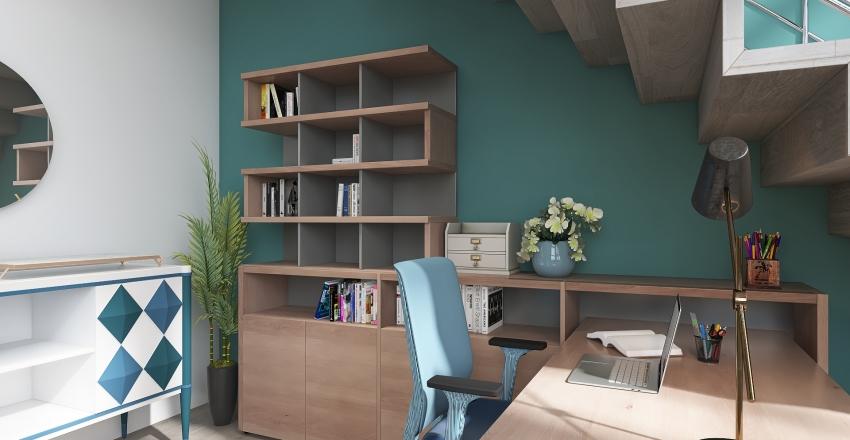 Loft Apartment in Boston Interior Design Render