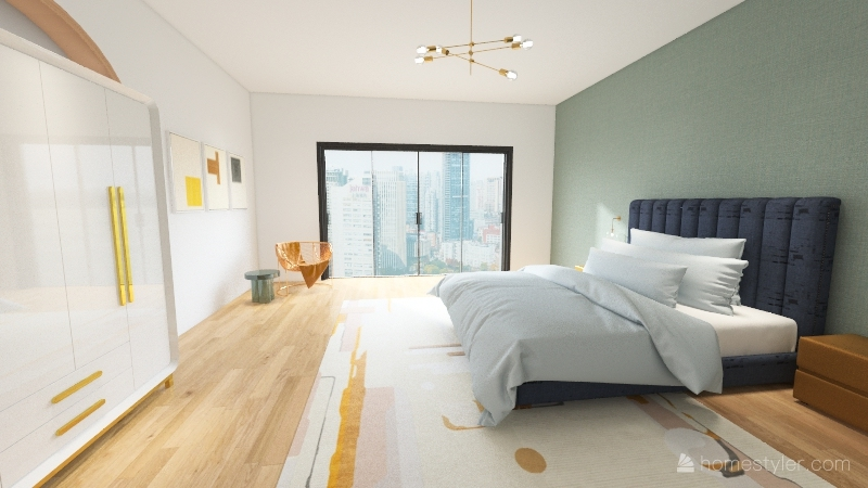 eclectic Interior Design Render