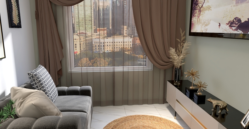 Simples e Moderna Interior Design Render
