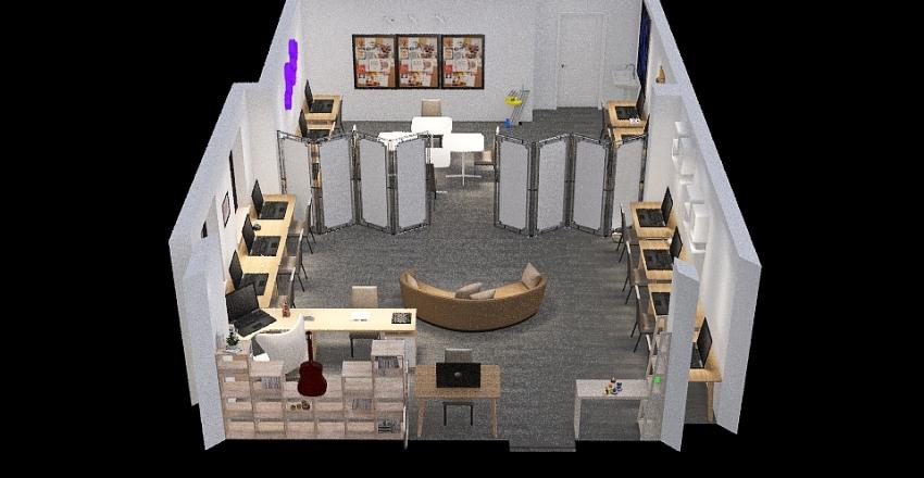 кабинет информатики Interior Design Render