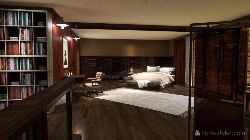 Fall House with Winter Garden? Interior Design Render