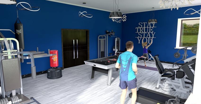 Copy of Gym Interior Design Render