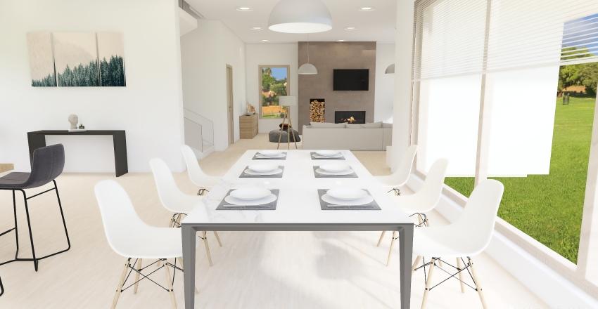 Modern Family House Interior Design Render