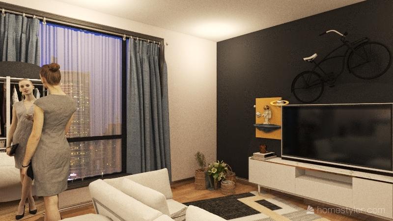 comfy apartment Interior Design Render