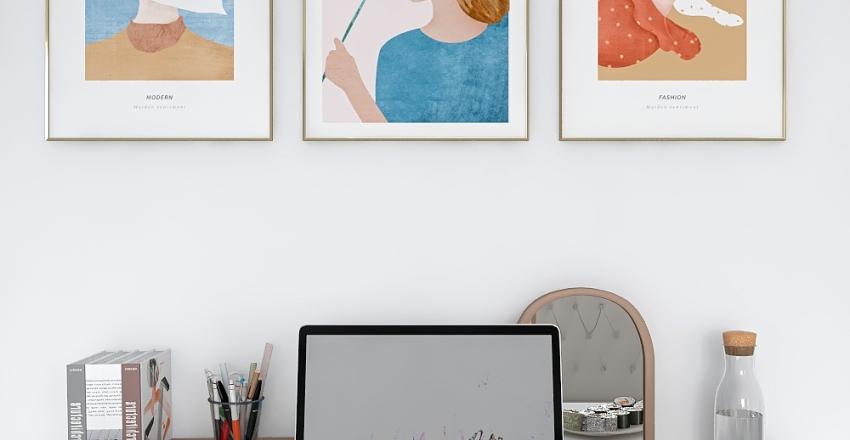Desk Decoration Interior Design Render