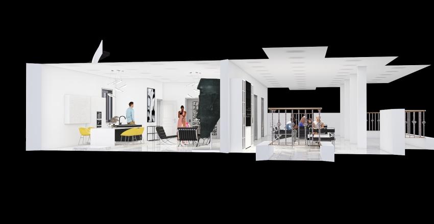 Villino B - Adalberto Libera Interior Design Render