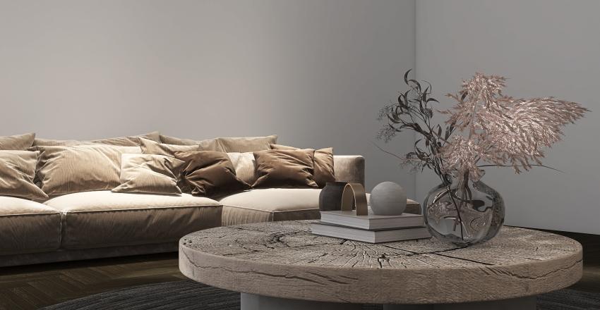 Earthy Tones Bedroom Interior Design Render