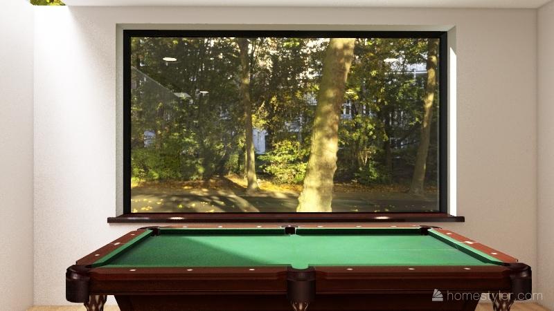 Pool Room Interior Design Render