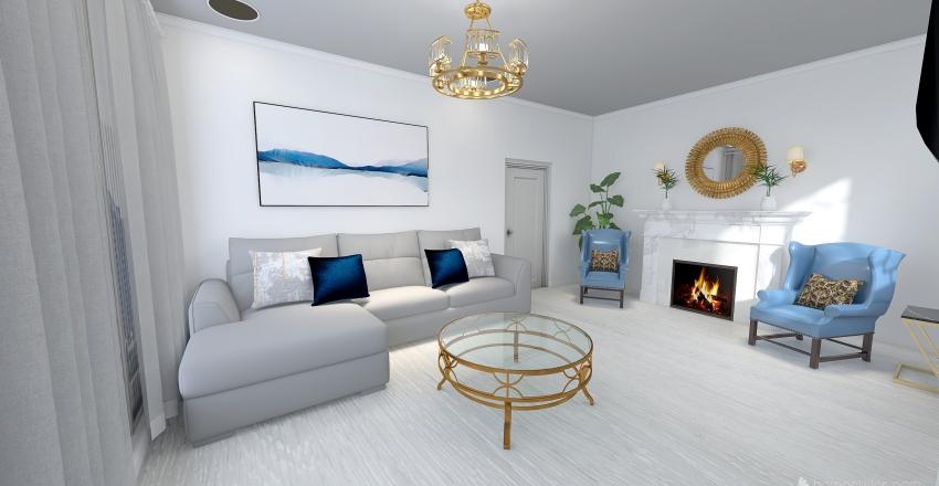 Classic modern house Interior Design Render